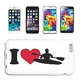 Helene - Funda para iPhone 6 I Love Kajak Fahren Kajak Wilwasser Kajak Paddel Watersport Carcasa Carcasa rígida para teléfono móvil Smart Cover