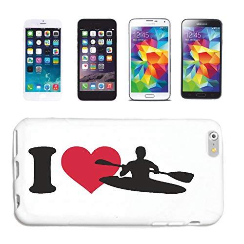 Helene telefoonhoes compatibel met Samsung Galaxy S4 Mini I Love KAJAK rijden kajakrijders wildDWASSER kajak padddel watersport hardcase beschermhoes telefoonhoes Sm
