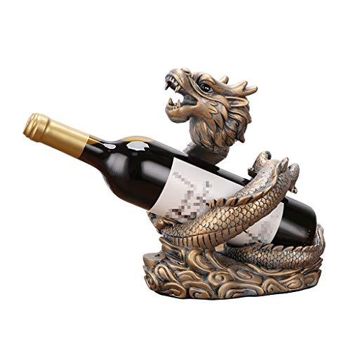 HongLianRiven ambachten Feng Shui Dragon wijnrek ornamenten wijnfles plank kantoor wijnkast decoratie Lucky woonkamer decoraties 9-16
