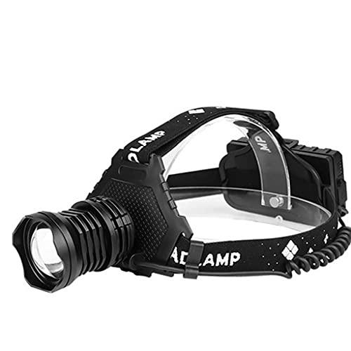 TTESOPG Linterna Frontal Led Recargable Linterna Frontal, USB Recargables, Xhp70.2 Faros Led, Brillante Ligera Impermeable Adjustable con Zoom para Correr Acampar Excursión Pesca Ciclismo