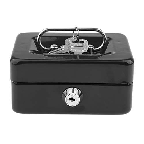 P Prettyia Tragbare Geldkassette Geldkasse Münzenbox für Schmuck, Perlen, Ohrring, Ring - Schwarz