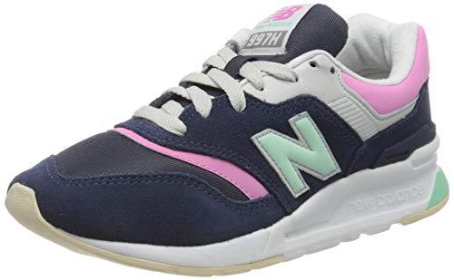 New Balance Damen 997h d Sneaker, Blau (Navy/Pink Hao), 35 EU