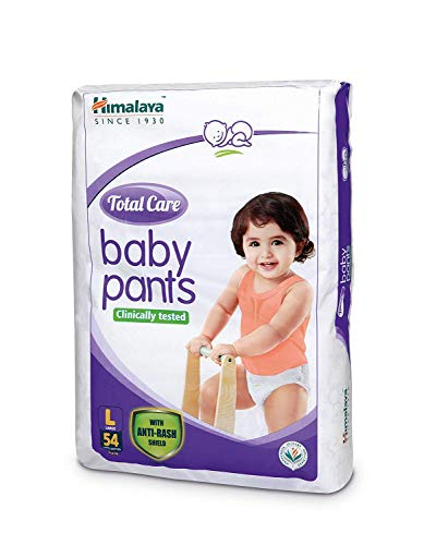 Himalaya Total Care Baby Pants Diapers, Large (8 – 14 kg), 54 Count