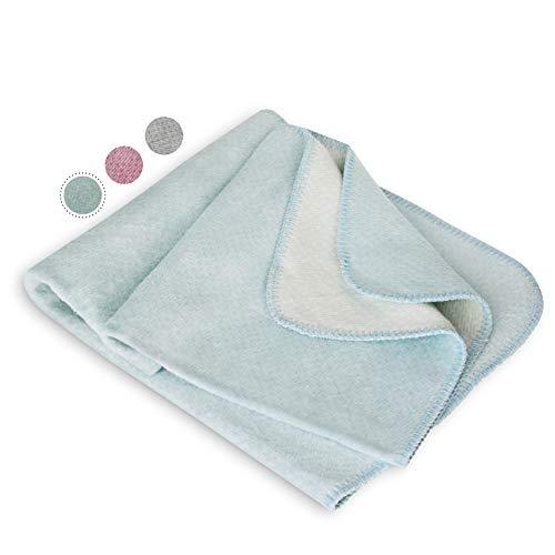 kids&me Bio-Baumwolldecke für Babys - Babydecke fair&ökologisch hergestellt in Deutschland - OEKO-TEX zertifiziert - perfekt für alle 4 Jahreszeigen geeignet in der Farbe Mint