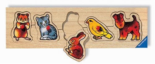 Ravensburger - Haustiere, 5 Teile Holzpuzzle
