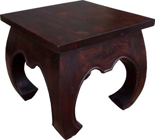 Guru-Shop Opiumtisch Bodentisch, Kaffeetisch aus Indien, Quadratisch, Akazienholz, Größe: 45x45 cm, Kaffeetische & Bodentische