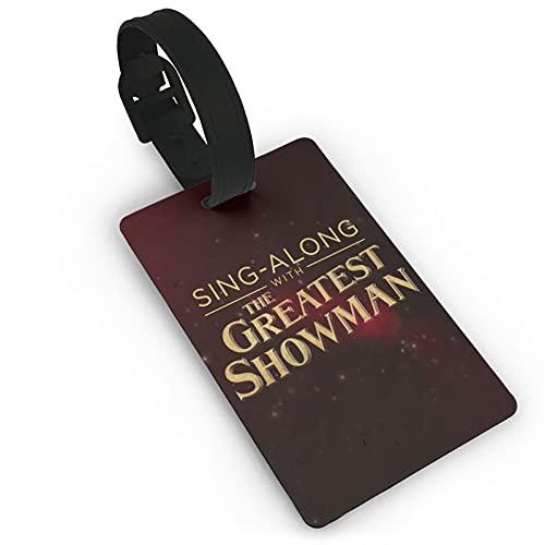 The Greatest Showman etiquetas de equipaje maleta titular de la tarjeta etiqueta nombre dirección ID bolsa etiqueta PVC 5.6*9.4 cm
