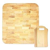 toci set di taglieri | tagliere in legno massiccio rettangolare 36 x 32 x 4 cm con tagliere per la colazione piccolo per il pane 21 x 13 cm