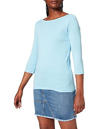 United Colors of Benetton Maglia M/L 3GA2E16A1 Camiseta, Azul 1u8, Mujer