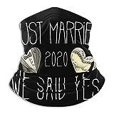 Verheiratet 2020 Braut Bräutigam Geschenkidee Unisex Stilvoll Gesichtsdekoration,Wind Staub Beweis Halstuch,Erwachsene Outdoor Mundschutz,Mikrofaser Nahtloses Halswärmer,Damen Herren Sturmhaube