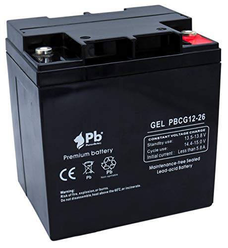Batería GEL ciclo profundo 12V 26Ah PBCG12-26