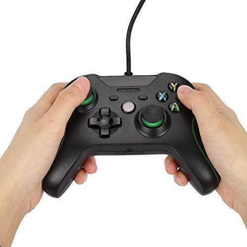 Manette de Jeu en Fil, poignée de Jeu en Fil, contrôleur de Manette de Jeu avec Vibration, avec Quatre voyants LED, PC de Support pour l'hôte Xbox-One