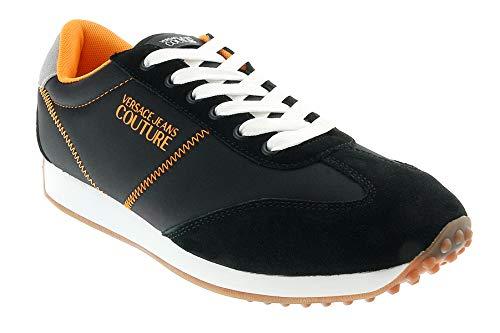 VERSACE JEANS COUTURE EOYVBSE1 Sneakers heren Zwart/Oranje Lage sneakers
