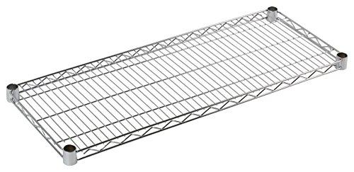 Archimede Sistema Componibile, Ripiano, Grigio (Cromato), 46 x 91 cm