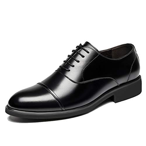 Zapatos de Negocios para Hombre, Zapatos Planos con Cordones de Cuero, Zapatos...