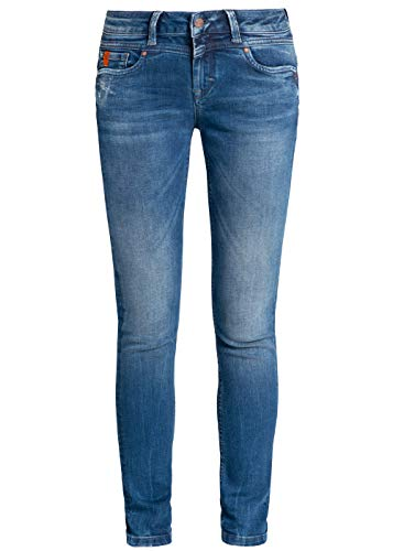 M.O.D Miracle of Denim Damen Jeans Ellen Skinny FIT AU19-2002 Pelican Blue, Hosengröße:29/32