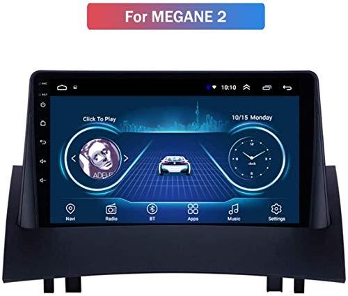 JFFFFWI Estéreo para automóvil para Renault Megane 2 2003-2009, Car Audio Android 9.1 4 Core 16G 32G con cámara Trasera (Regalo), Compatible con Reproductor de DVD/Navegación GPS/BT/SWC/Repr