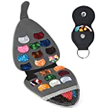 Guitar Pick Holder Case Bag with 24pcs Acoustic Electric Guitar Colorful Picks 0.46mm/