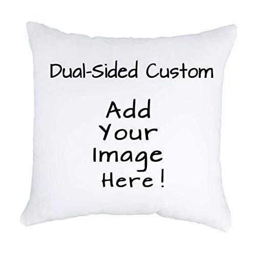 Luxbon Fodera per Cuscino Personalizzato in Velluto Bianca 45cmx45cm Stampato Fronte Retro Personalizzato in Qualsiasi Forma