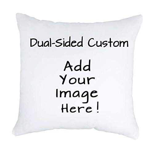 Luxbon Personalised Cushion Cover 45cmx45cm Double-sided Printed Any Text & Picture Custom Pillow Cases White 18'x18' Advanced Velvet Fabric Unique Wedding Pet Gifts Ideal Decors