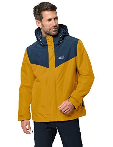Jack Wolfskin Herren Arland 3in1 M 3in1-jacke, golden yellow, XL