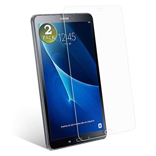 aiMaKE Galaxy Tab A Panzerglas,2 Stück Panzerglas Folie kompatibel mit Samsung Galaxy Tab A6 10.1 Zoll T580N/T585N Bildschirmschutzfolie,9H Hardness,Kristallklar Tablet Schutzfolie,Ultra-dünn Folie