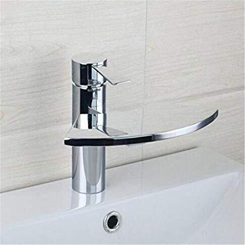 Chrome Keuken wastafel Tapcopper Basin Kraan Waterval Mixer Water Tap Badkamer Glas Ventilator wastafel Kraan Chroom Messing wastafel Kraan Warm en Koud