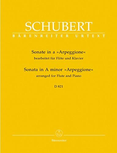 Sonate a-Moll D 821 \'Arpeggione\' -Bearbeitung für Flöte und Klavier-. Partitur, Stimmen, Urtextausgabe
