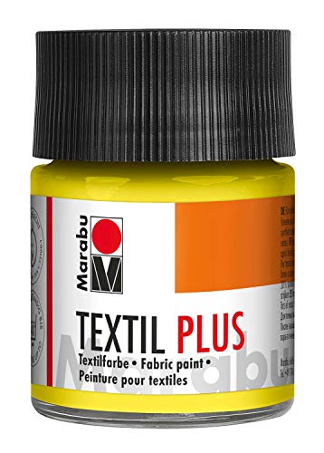Marabu Textil Plus - Vernice per superfici in Vetro, 50 ml zitron