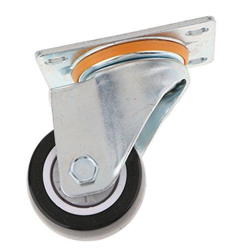 Sharplace roulettes Chaise Bureau Roulement Accessoires d'ameublement PU Caoutchouc 2.5 ''