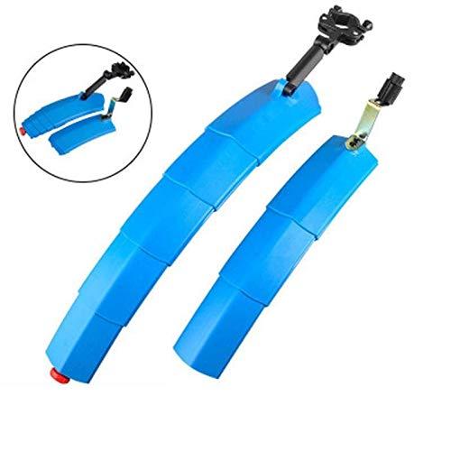 Telescopische opvouwbare fiets spatbord Fenders Achterlicht MTB voorzijde achterspatborden voor 24-26 Fender Blauw