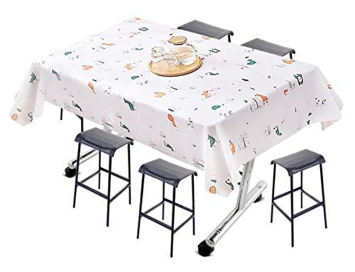 NO Miystn Mantel Mesita Salon, Mantel Hule Mesa Rectangular, Mantel Antimanchas Impermeable, Sin Arrugas y Lavable para Picnic, Fiestas y Cenas en Casa (1 Pieza, 137 x 180 cm)