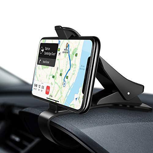 Amazon Brand - Eono Supporto Smartphone per Auto, Supporto Auto Smartphone Universale per Cellulare, per Cruscotto, Compatibile con iPhone, Samsung, Huawei