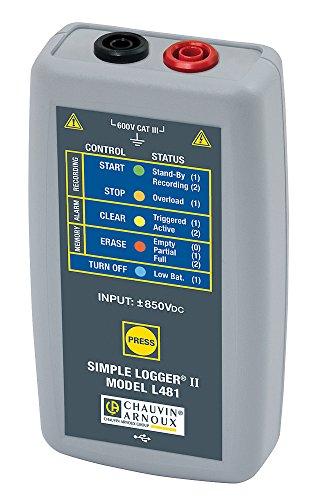 Chauvin Arnoux L481 Spannungs-Logger, 1 Kanal, 850V DC…+850V DC