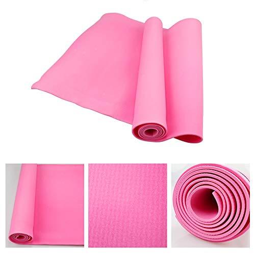 Esterilla de yoga antideslizante, gruesa, ecológica, para deportes, fitness, suave, para pilates, plegable, equipo para ejercicio