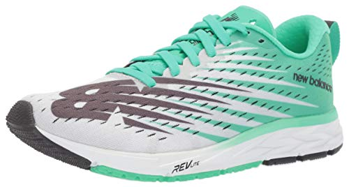 New Balance 1500v5, Zapatillas de Running Mujer, Blanco (White/Neon Emerald Wg5), 35 EU