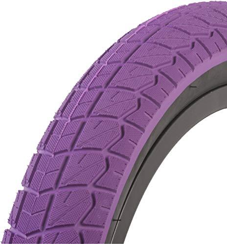 SUNDAY BIKES Current 18 BMX Neumáticos – 18 Pulgadas de Lila/Negro 2.20
