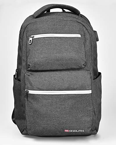 Monolith 200009113D Laptop Backpack 15.6 Inches Model 9113 30 x 19 x 45 cm Dark Grey