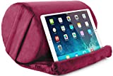 NPET ST20 Tablet Pillow Stand, Pillow Soft Stand Pad for Lap, Tablet Holder Dock for Bed with Adjustable Viewing Angles, Compatible with iPad Pro 9.7, Air Mini 4 3, Kindle, E-Reader, Books, Burgundy