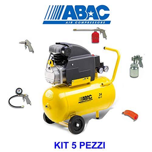 Compresor de aire ABAC 24 l Pole Position 8 bar HP2 con kit de 5 piezas filtro compacto