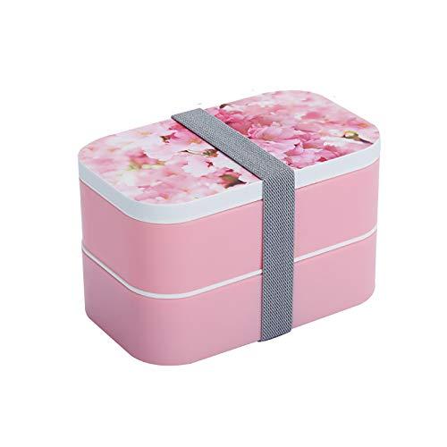 Cajas de almuerzo dobles de acero inoxidable interior Bento Box portátil contenedores de almacenamiento de alimentos a prueba de fugas, para niños adultos oficina trabajo picnic,A