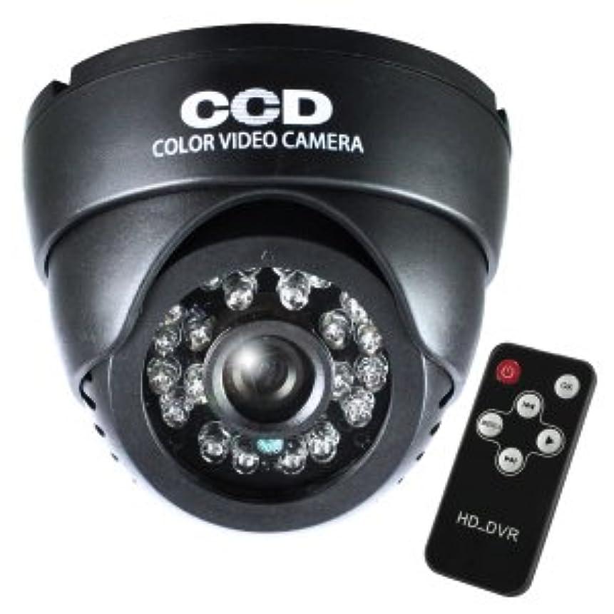 晩餐梨スリンクSDカード防犯カメラ 録画装置内蔵 リモコン付 外部電源 屋内 赤外線暗視カメラ ドーム型 (OL-024) 強力赤外線LED 24時間常時録画 外部出力 監視カメラ オンロード OnLord