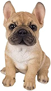 Pacific Giftware French Bulldog Puppy Statue Realistic Glass Eyes