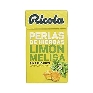 Ricola - Caramelos de goma sin azúcares, Perlas de Hierbas, Limon, 25 g
