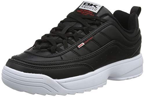 British Knights Damen IVY Sneaker, Schwarz (Black/White/Red 02), 39 EU