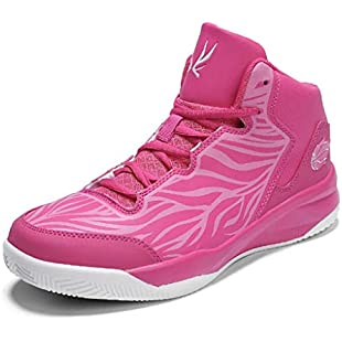 Zxcvb Kid's Basketball Shoes High-Top Sneakers Outdoor Trainers Durable Sport Shoes(Little Kid/Big Kid) (Color  Pink, Size  45 EU):Hdmoviedownload