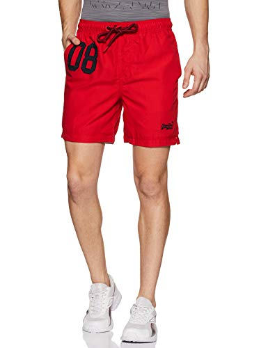 Superdry Herren Water Polo Swim Shorts, Rot (Flag Red Oxl), Medium (Herstellergröße: M)