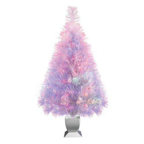 Fiber Optic Conical Christmas Tree 32 in, White