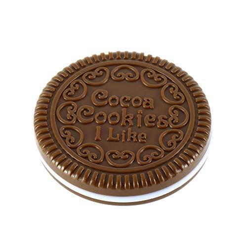 FiedFikt Creatieve Mini Pocket Cosmetische Spiegel Leuke Chocolade Koek Koekjes Gevormde Make-up Spiegel met Kam, Klein en Lichtgewicht, Gemakkelijk dragen (Random Kleur, 6.5cm*1.2cm) 1 st