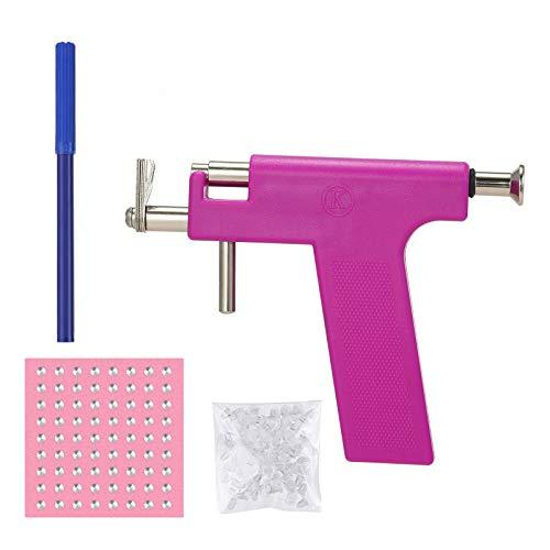 Anself Juego de pistola para perforar la oreja, juego de pistola para perforar el cuerpo,con 98 piezas de espárragos para pendientes